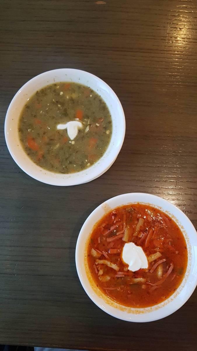 Soljanka a šťovíková polévka