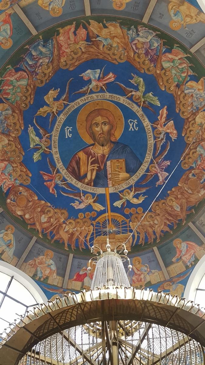 Strop pravoslavného kostela