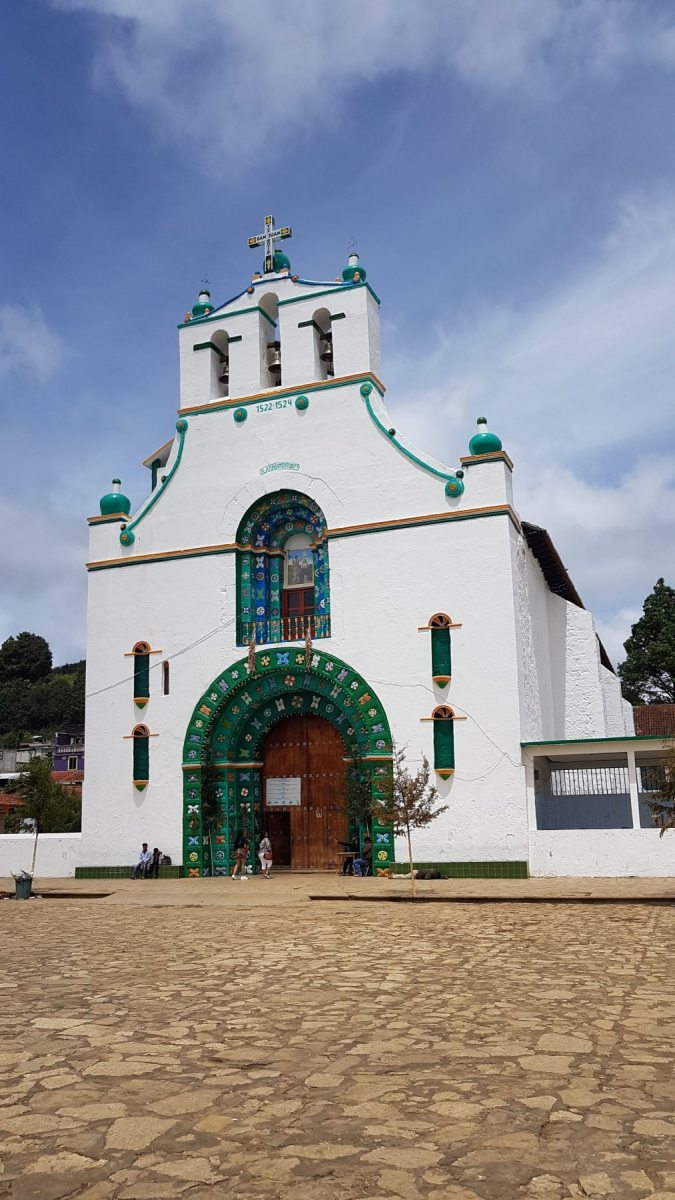 Kostelík v San Juan Chamula