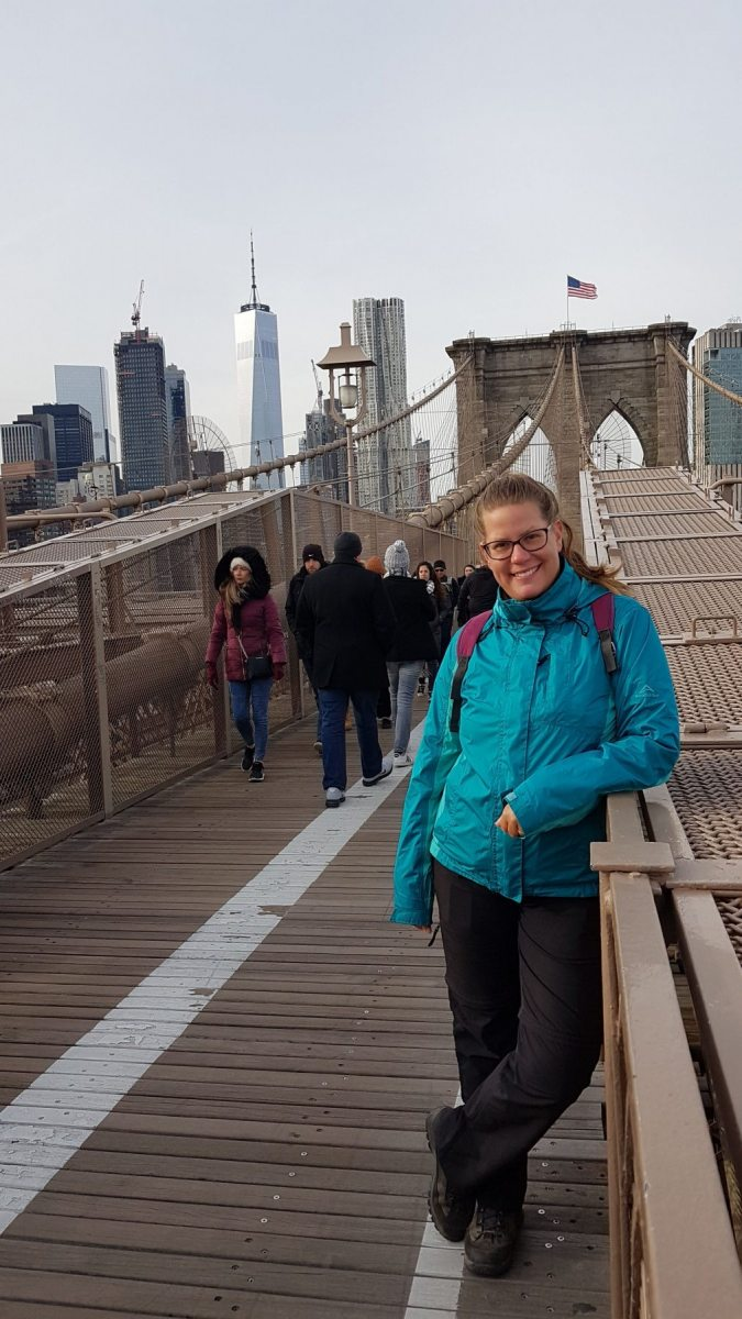 Šárka na Brooklyn Bridge
