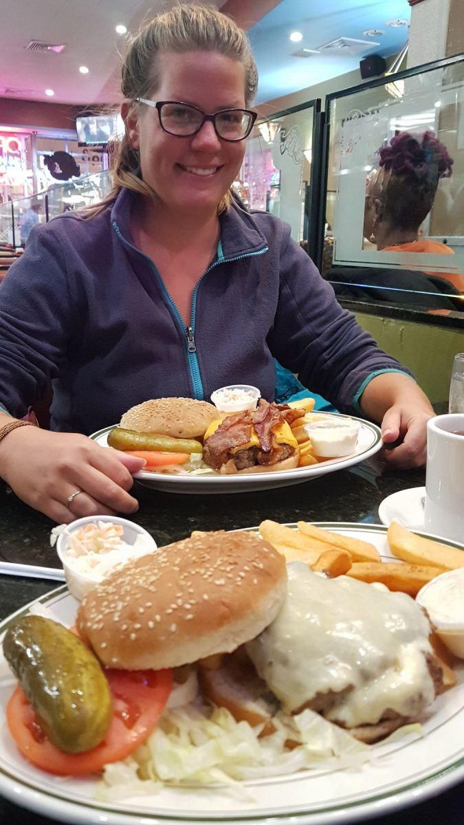 Šárka a hamburger