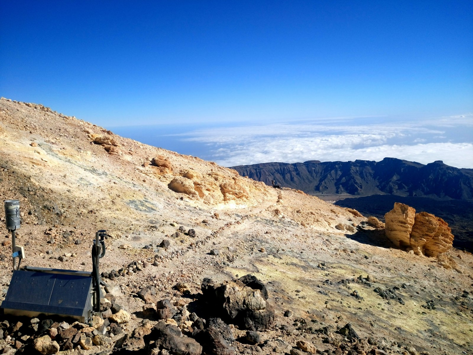 Sopečný povrch Pico del Teide