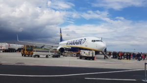 letadlo, letiště Řím, Itálie, dovolená, cestování