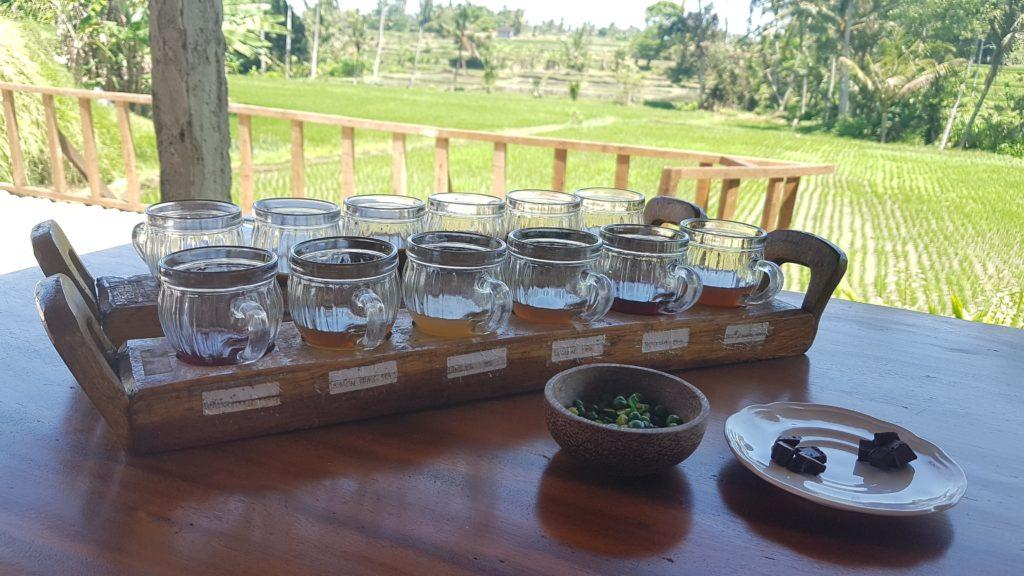 Ochutnávka kávy a čaje Bali