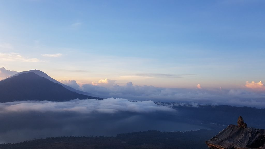 Pohled ze sopky Batur